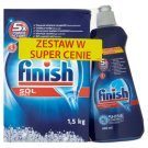 Finish 5x Power Actions Set Dishwasher Salt 1.5 kg and Rinse Aid 400 ml