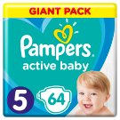 Pampers Active Baby Size 5, 64 Nappies, 11-16kg