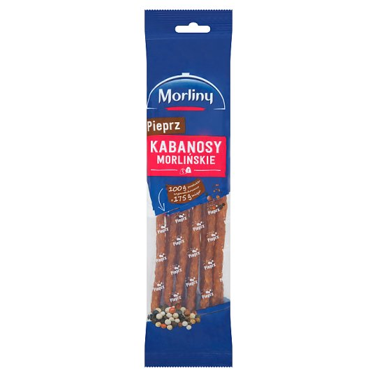 Morliny Pepper Thin Smoked Sausages 105 g