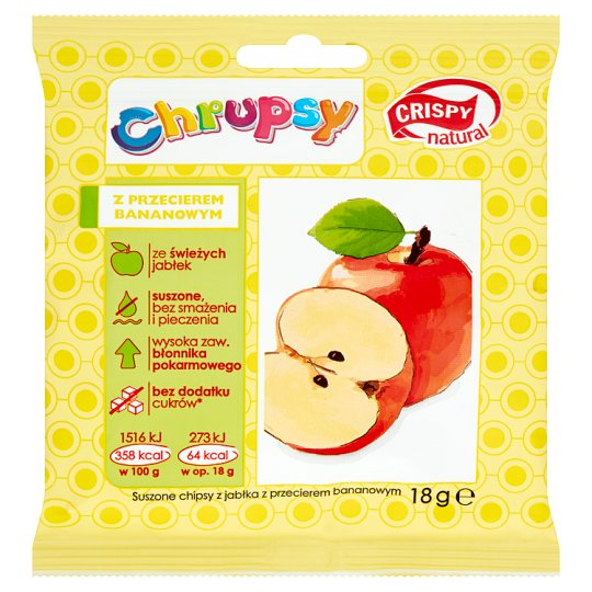 Crispy Natural Chrupsy Apple with Banana Puree Dried Chips 18 g