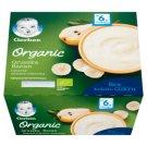 Gerber Organic Deserek mleczno-owocowy gruszka banan po 6 miesiącu 360 g (4 x 90 g)