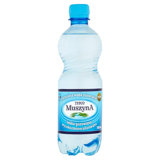 Tesco Muszyna Lightly Sparkling Rich Mineral Natural Water 500 ml