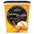 Tesco Finest Lody śmietankowe o smaku crème brûlée z sosem karmelowym i kawałkami cukru 460 ml