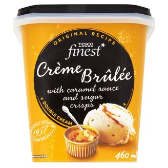 Tesco Finest Crème Brûlée Flavour Ice Cream with Caramel Sauce and Sugar Crisps 460 ml