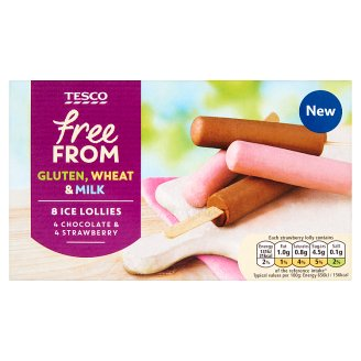 Tesco Free From Chocolate and Strawberry Flavored Non-Dairy Frozen Dessert 280 ml (8 x 35 ml)