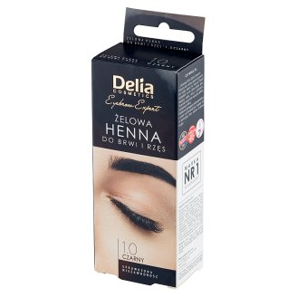 Delia Cosmetics Gel Eyebrows and Eyelashes Henna 1.0 Black