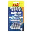 Gillette Blue3 Comfort Jednorazowa maszynka do golenia dla mężczyzn, 8 sztuk