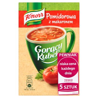 Knorr Gorący Kubek Pomidorowa z makaronem 95 g (5 sztuk)