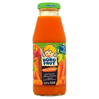 Bobo Frut Marchewek Carrot Apple Grapes Pumpkin 100% Juice after 5 Months Onwards 300 ml