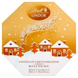 Lindt Lindor Pralinki z czekolady mlecznej deserowej i białej z nadzieniem 150 g