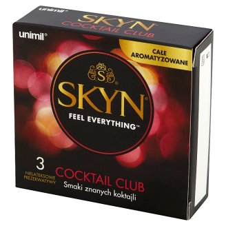 Unimil Skyn Cocktail Club Latex Free Condoms 3 Pieces