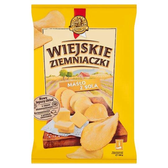 Wiejskie Ziemniaczki Potato Crisps with Butter and Salt Flavour 130 g