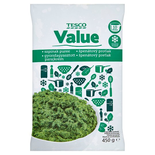 Tesco Value Spinach Purée 450 g