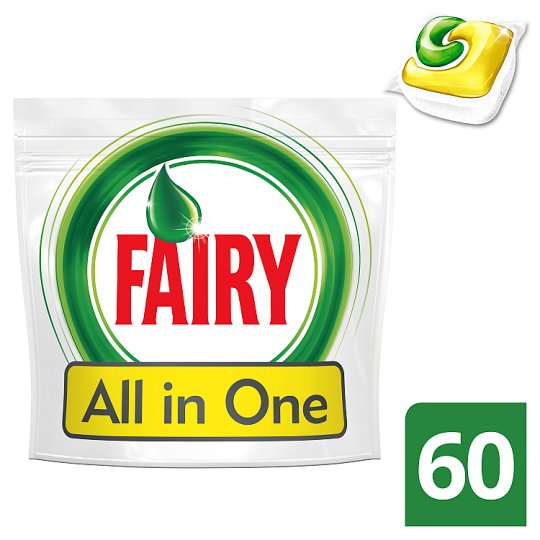 Fairy All In One Dishwasher Tablets Lemon 60 per Pack