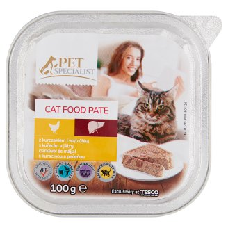 Tesco Pet Specialist Pate with Chicken and Liver Food for Adult Cats 100 g