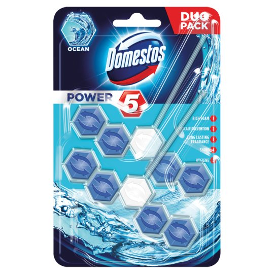 Domestos Power 5 Ocean Toilet Block 2 x 55 g