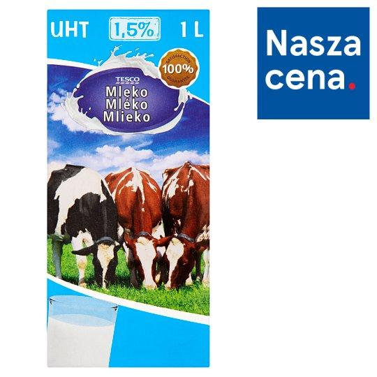 Tesco Milk UHT 1.5% 1 L