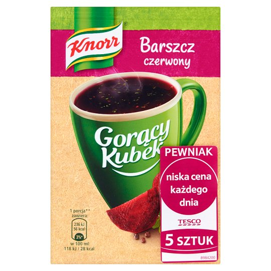 Knorr Gorący Kubek Red Borscht 70 g (5 Pieces)