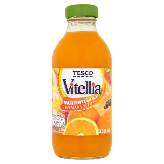 Tesco Vitellia Orange Multivitamin Multifruit Drink 330 ml
