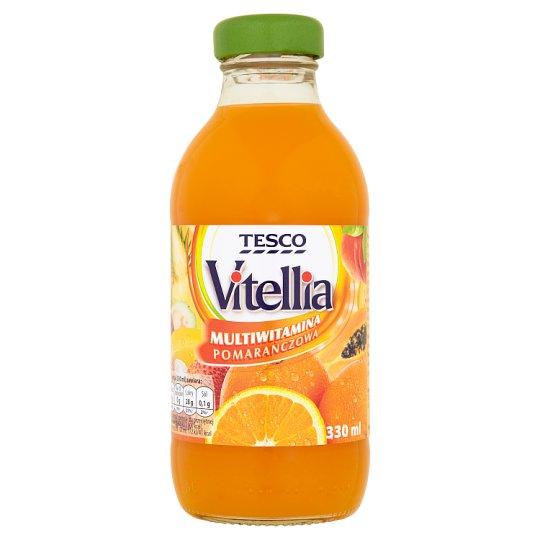 Tesco Vitellia Multiwitamina pomarańczowa Napój wieloowocowy 330 ml