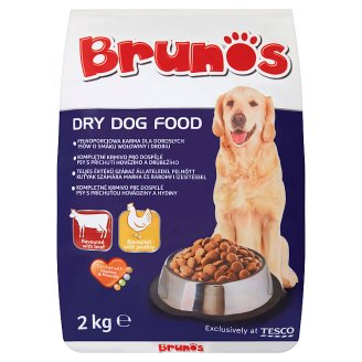 Brunos Beef and Poultry Flavour Complete Pet Food for Adult Dogs 2 kg