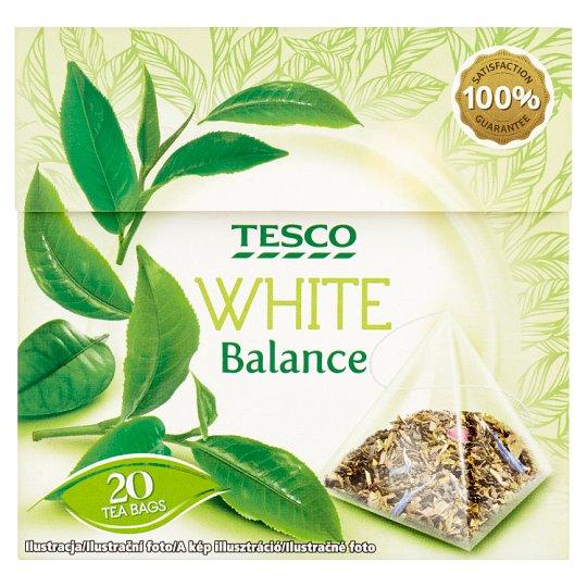Tesco White Balance Herbata zielona ekspresowa 34 g (20 torebek)