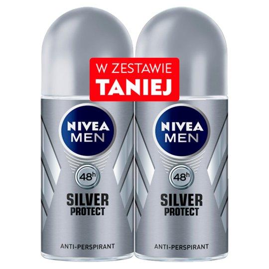 NIVEA MEN Silver Protect 48h Antyperspirant w kulce 2 x 50 ml