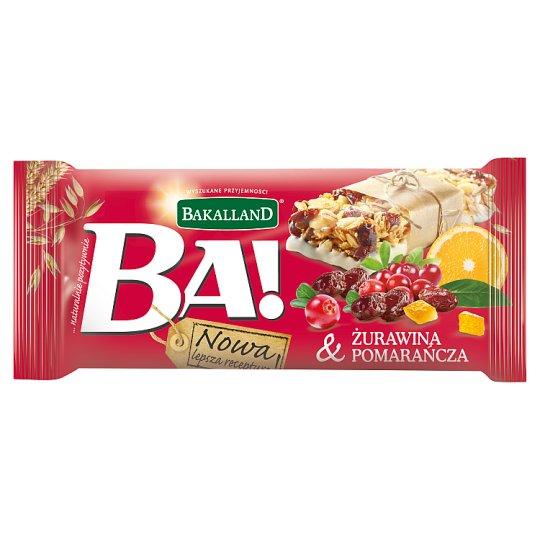 Bakalland Ba! Cranberry & Orange Cereal Bar 40 g