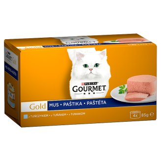 Gourmet Gold Mousse with Tuna Complete Food for Adult Cats 340 g (4 x 85 g)