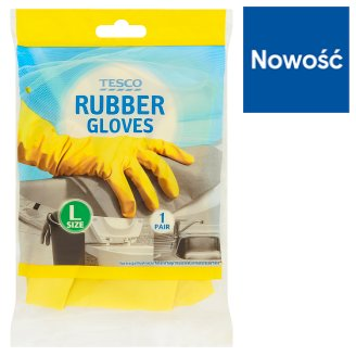 Tesco Size L Rubber Gloves 1 Pair