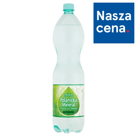 Tesco Polanicka Mineral Sparkling Natural Mineral Water 1.5 L