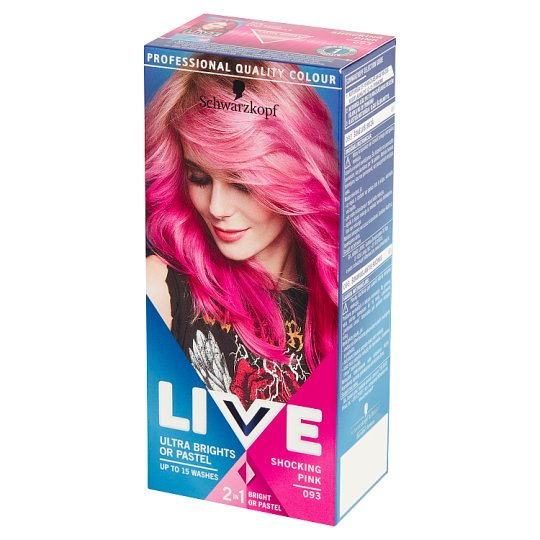Schwarzkopf Live Ultra Brights or Pastel Hair Colorant Shocking Pink 093