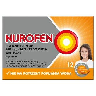 Nurofen dla dzieci Junior Kapsułki do żucia elastyczne 12 kapsułek