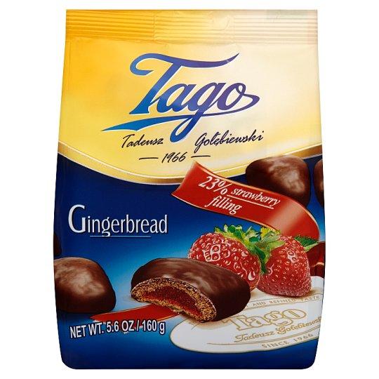 Tago Pierniki z nadzieniem truskawkowym 160 g