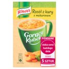 Knorr Gorący Kubek Rosół z kury z makaronem 60 g (5 sztuk)