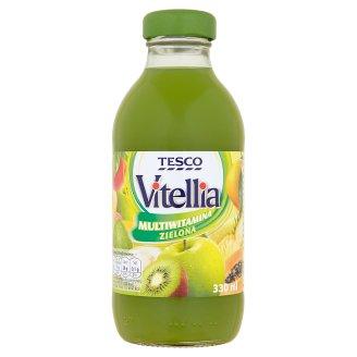 Tesco Vitellia Multiwitamina zielona Napój wieloowocowy 330 ml