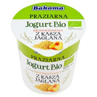 Bakoma Praziarna Jogurt Bio brzoskwiniowy z kaszą jaglaną 140 g