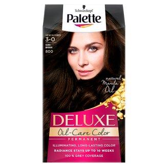 Palette Deluxe Oil-Care Color Farba do włosów Ciemny brąz 800