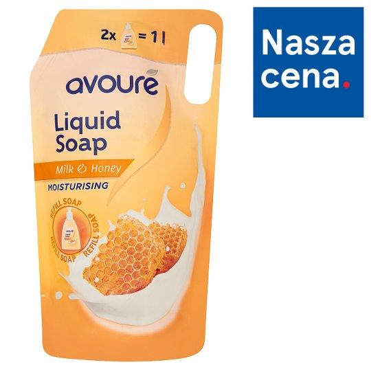 Avoure Milk & Honey Mydło w płynie opakowanie uzupełniające 1 l