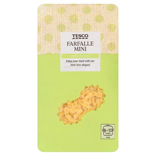 Tesco Makaron bezjajeczny farfalle mini 500 g