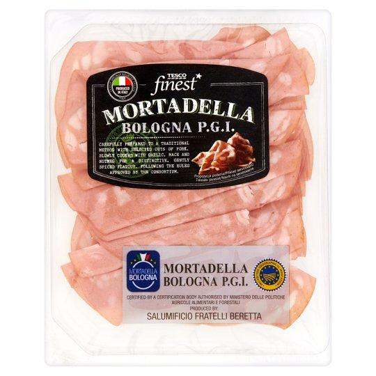 Tesco Finest Mortadella Bologna P.G.I. Kiełbasa wieprzowa 120 g