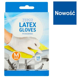 Tesco Latex Gloves Size M 10 Pieces
