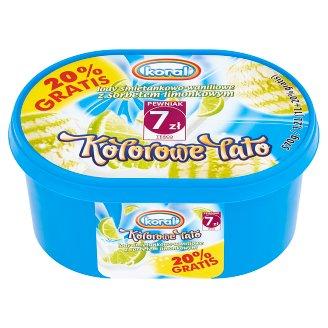 Koral Kolorowe Lato Cream-Vanilla with Lime Sorbet Ice Cream 1.2 L