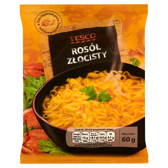 Tesco Golden Chicken Broth Instant Soup 60 g