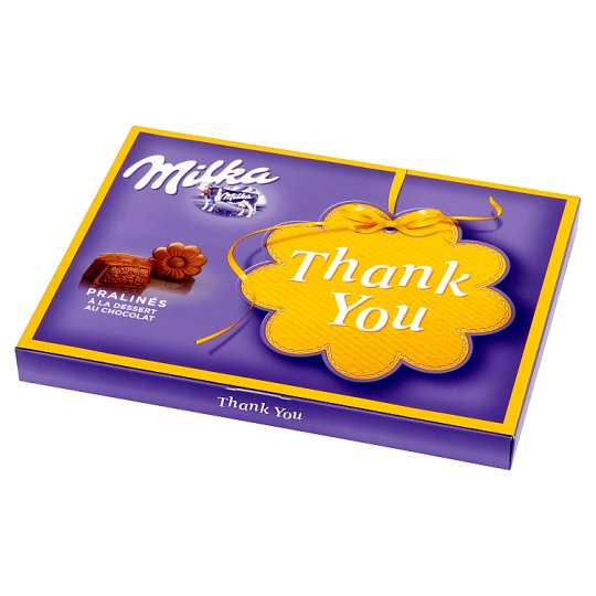 Milka Milk Chocolates with Cocoa Filling Thank You 120 g (20 Pieces)
