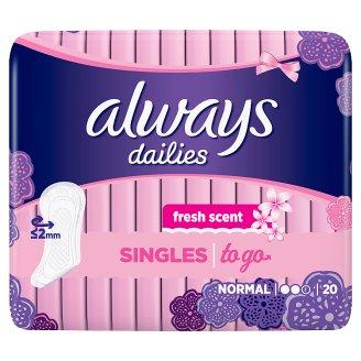 Always Dailies Singles To Go Wkładki higieniczne, 20 szt.