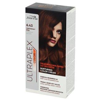 Joanna Ultraplex Color Pielęgnacyjna farba do włosów Kasztanowy brąz 6.43