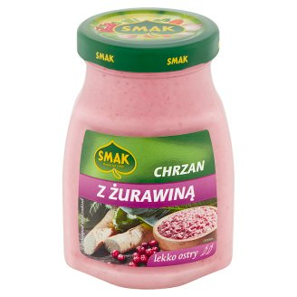 Smak Chrzan żurawinowy lekko ostry 175 g