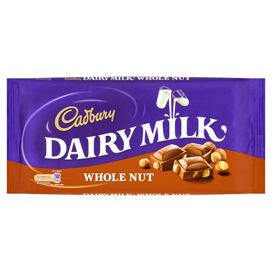 Cadbury Whole Nut Dairy Milk Chocolate 200 g