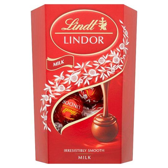 Lindt Lindor Mliečna čokoláda s jemnou tekutou náplňou 200 g